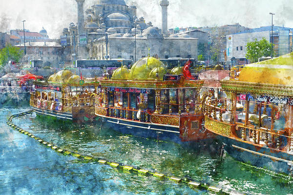 Photograph - Colorful Boats In Istanbul Turkey by Brandon Bourdages