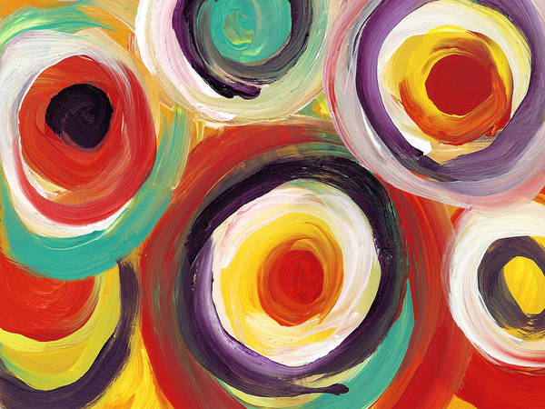 Wall Art - Digital Art - Colorful Bold Circles 2 by Amy Vangsgard
