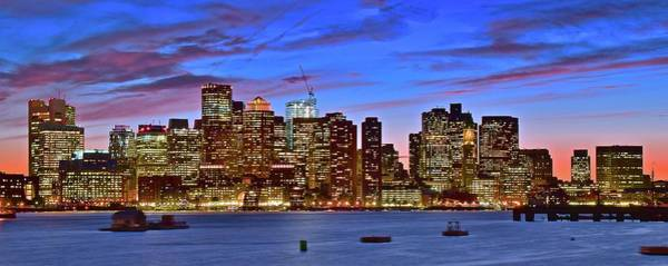Wall Art - Photograph - Colorful Boston Sundown by Frozen in Time Fine Art Photography