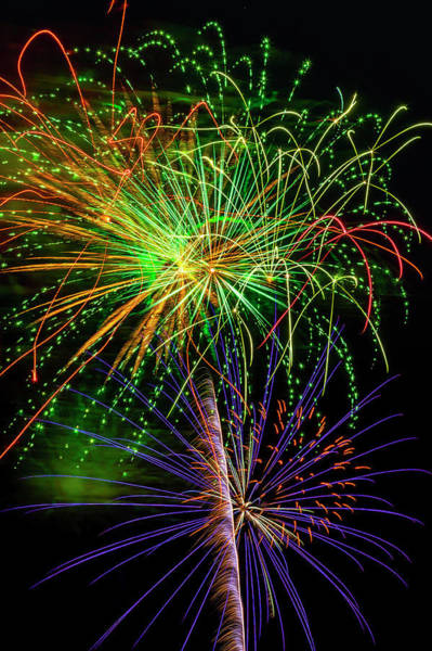 Dazzle Wall Art - Photograph - Colorful Bright Fireworks by Garry Gay