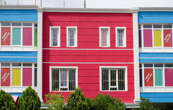 Kindergarten Photograph - Colorful Building by Tom Gowanlock