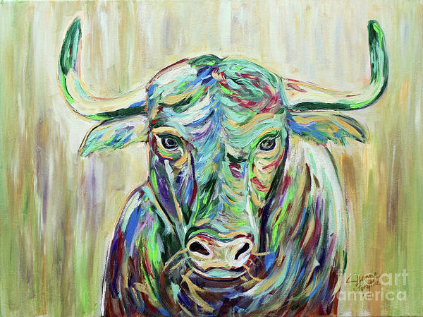 Painting - Colorful Bull by Jeanne Forsythe