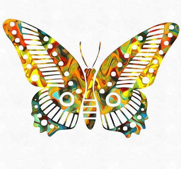 Spread Painting - Colorful Butterfuly by Dan Sproul