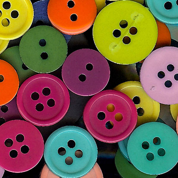 Wall Art - Photograph - Colorful Buttons by Bonnie Bruno