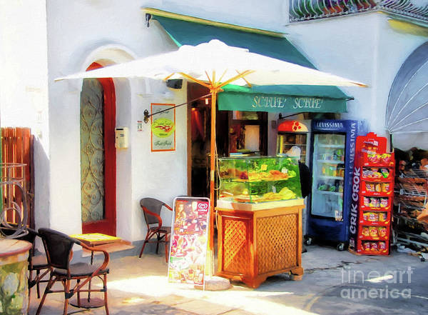 Isle Of Capri Wall Art - Photograph - Colorful Cafe On Capri by Mel Steinhauer