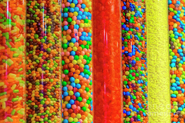 Photograph - Colorful Candy In A Store by Dawid Swierczek