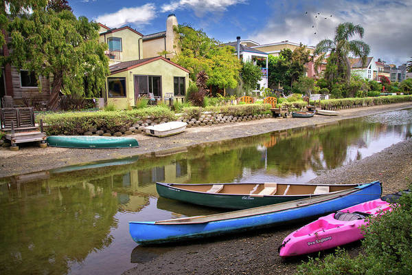 Photograph - Colorful Canoes On The Canal by Lynn Bauer