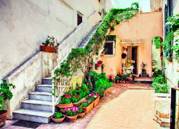 Photograph - Colorful Capri Courtyard by Mel Steinhauer