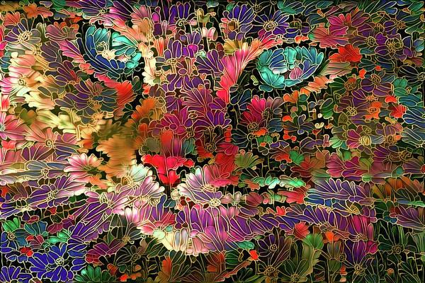 Digital Art - Flower Cat 1 by Peggy Collins