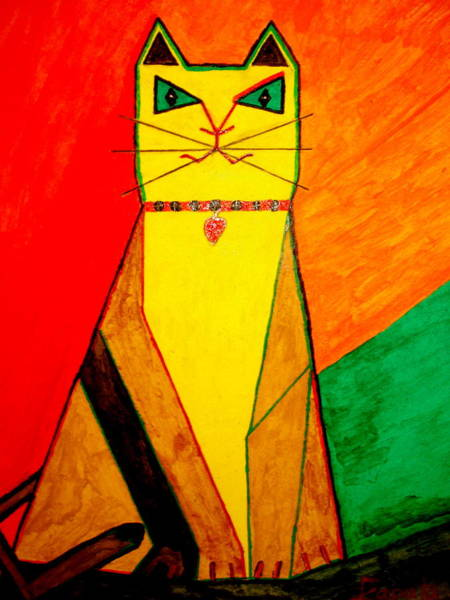 Painting - Colorful Cat by Felix Zapata