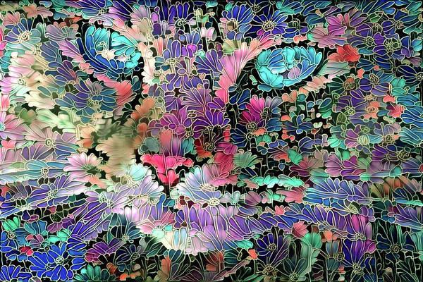 Digital Art - Flower Cat  by Peggy Collins