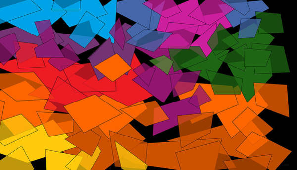 Digital Art - Colorful Chaos Too by Val Arie