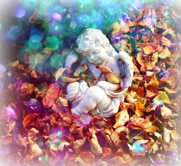 Photograph - Colorful Cherub by Deborah Kunesh