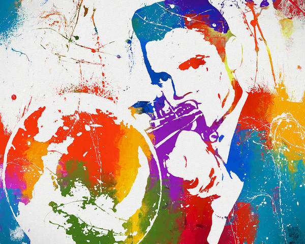 Piano Bar Painting - Colorful Chet Baker by Dan Sproul