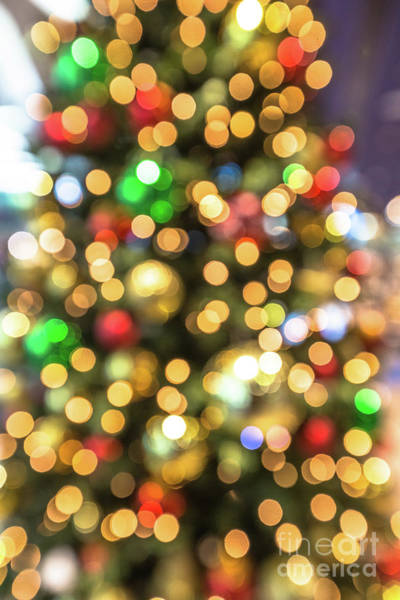 Photograph - Colorful Christmas Lights by Benny Marty