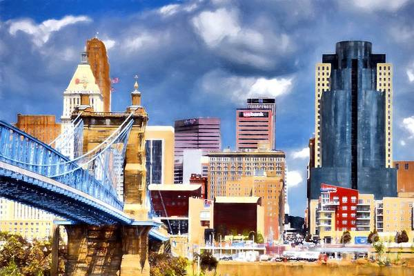 Photograph - Colorful Cincinnati Skyline by Mel Steinhauer