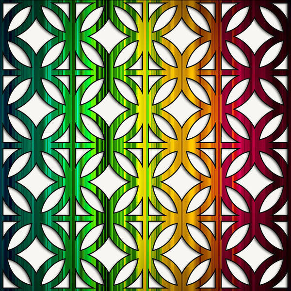 Digital Art - Colorful Circles And Squares by Chuck Staley