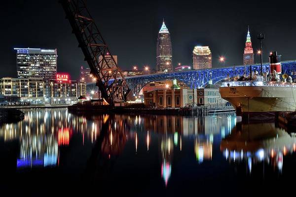 Wall Art - Photograph - Colorful Cleveland Flats by Frozen in Time Fine Art Photography