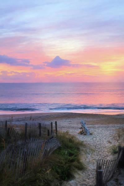 Rehoboth Beach Photograph - Colorful Coastal Sunrise by Lori Deiter