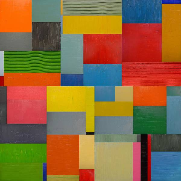 Painting - Colorful Collage 6.0 by Michelle Calkins