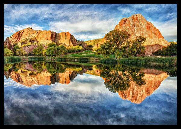 Photograph - Colorful Colorado - Red Rocks Reflection  by OLena Art Brand