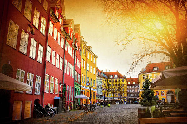 Town Square Photograph - Colorful Colorful Copenhagen Denmark by Carol Japp