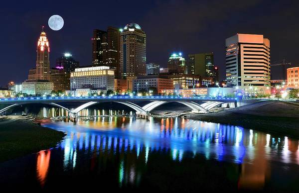 Scioto Photograph - Colorful Columbus by Frozen in Time Fine Art Photography