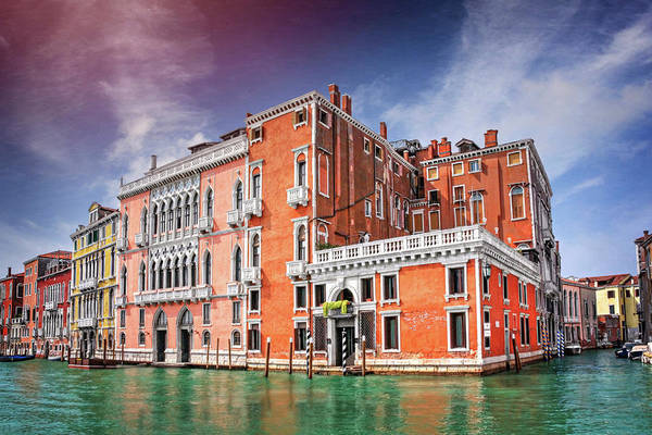 Italia Photograph - Colorful Corner Of The Grand Canal Venice Italy  by Carol Japp