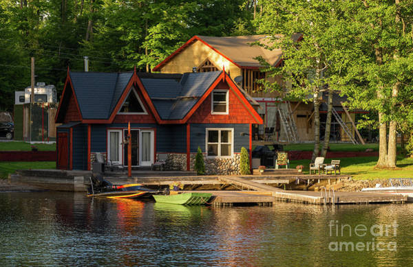 Photograph - Colorful Cottage by Les Palenik