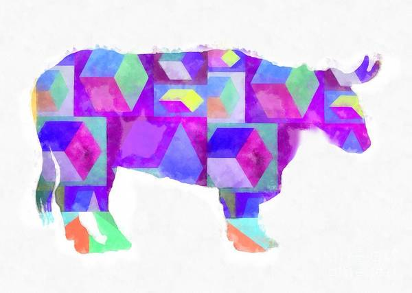Wall Art - Photograph - Colorful Cow Abstract by Edward Fielding