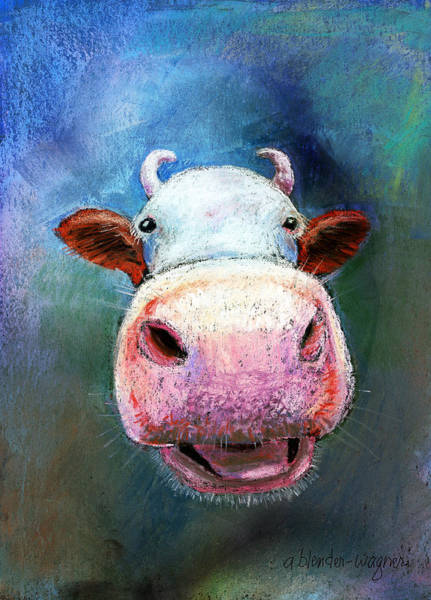 Wall Art - Pastel - Colorful Cow  by Arline Wagner