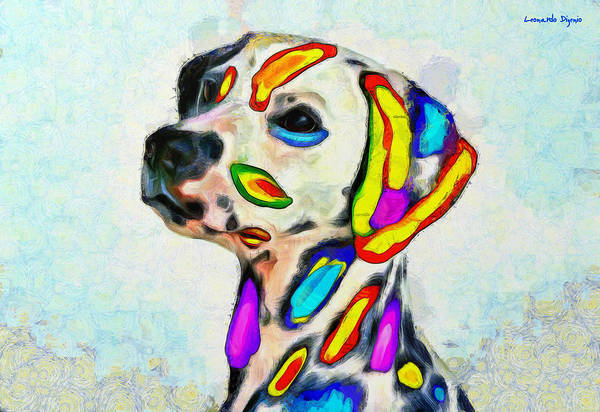 101 Digital Art - Colorful Dalmatian 500 - Da by Leonardo Digenio