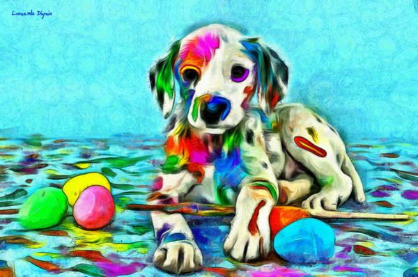 101 Digital Art - Colorful Dalmatian 850 - Da by Leonardo Digenio