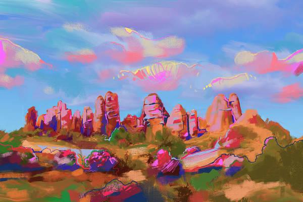 Southwest Digital Art - Colorful Desert by Bekim M