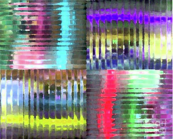 Acrylic Mixed Media - Colorful Distortions by Maria Arango