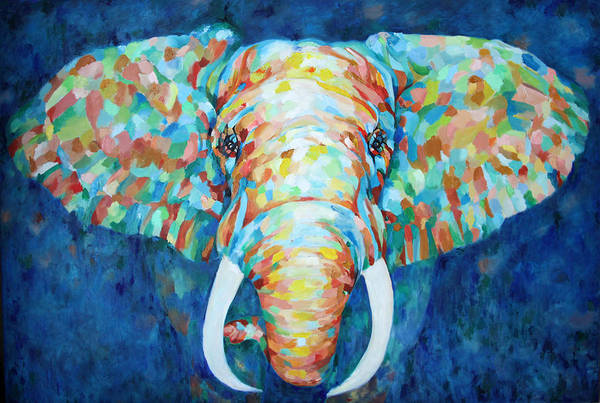 Painting - Colorful Elephant by Portraits By NC