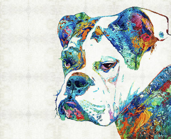 Wall Art - Painting - Colorful English Bulldog Art By Sharon Cummings by Sharon Cummings