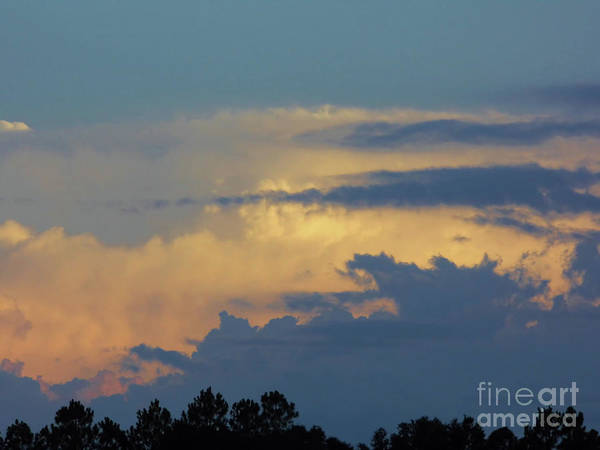 Photograph - Colorful Evening Sky by D Hackett