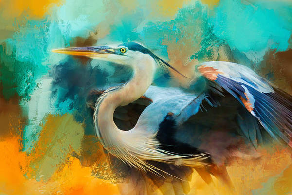 Photograph - Colorful Expressions Heron by Jai Johnson