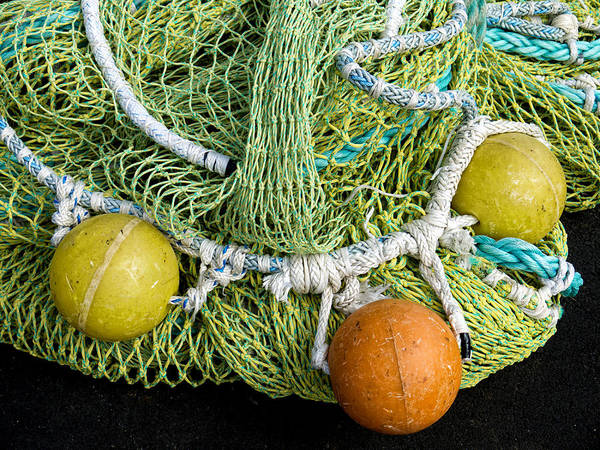Wall Art - Photograph - Colorful Fishing Nets And Buoys by Carol Leigh