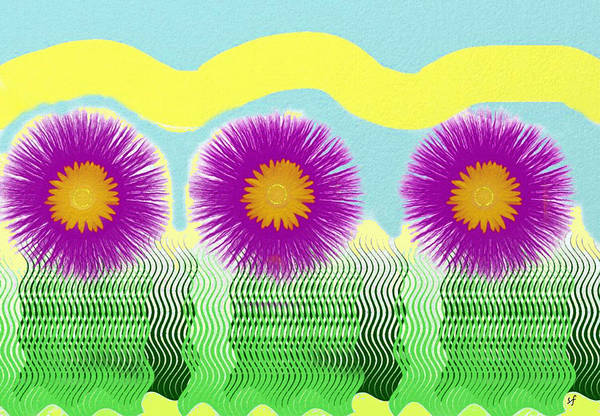 Digital Art - Colorful Flower Pop Art by Shelli Fitzpatrick