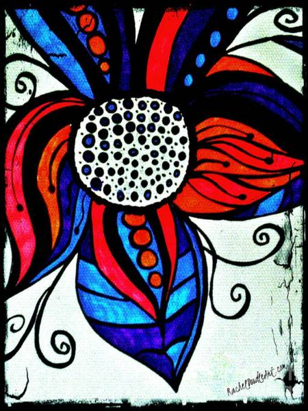 Drawing - Colorful Flower by Rachel Maynard