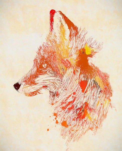 Wall Art - Painting - Colorful Fox by Dan Sproul