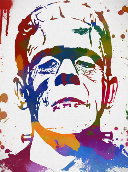 Wall Art - Painting - Colorful Frankenstein by Dan Sproul