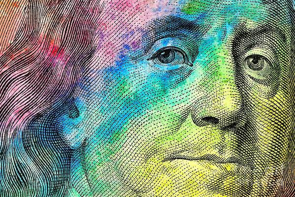 Hundred Wall Art - Photograph - Colorful Franklin by Jon Neidert