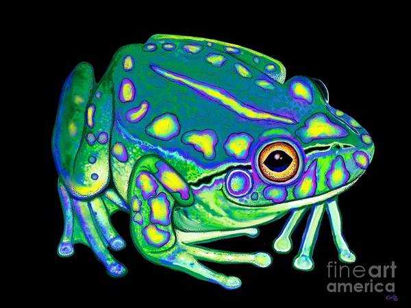 Wall Art - Painting - Colorful Froggy 2 by Nick Gustafson
