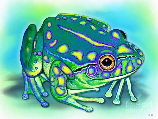 Wall Art - Painting - Colorful Froggy by Nick Gustafson