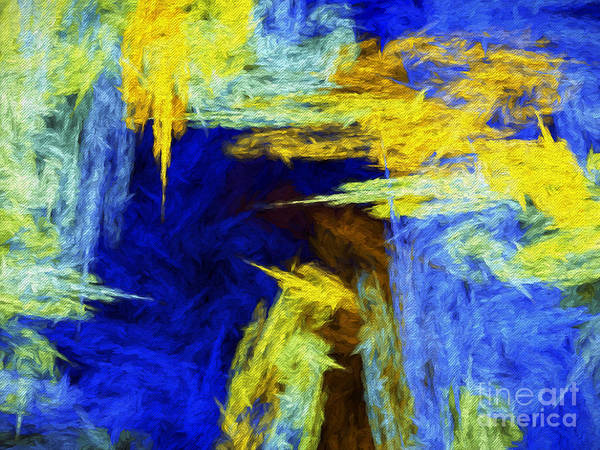 Digital Art - Colorful Frost Abstract by Andee Design