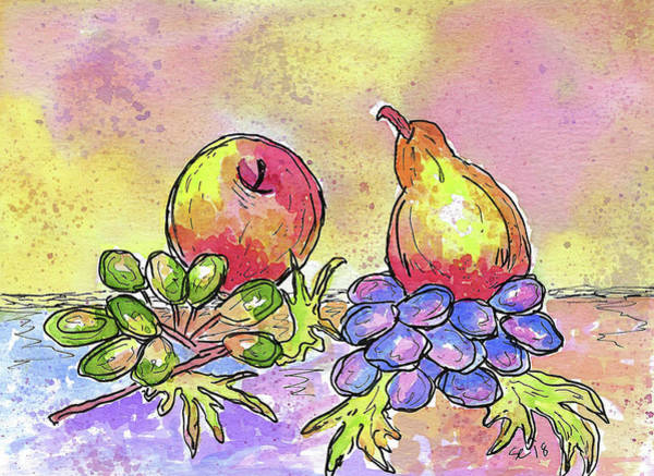 Painting - Colorful Fruit by Susan Campbell