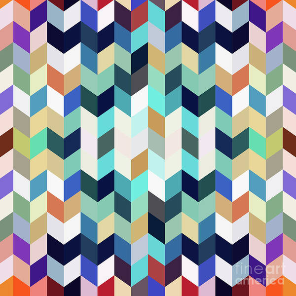 Cubic Digital Art - Colorful Geometric Background by Amir Faysal